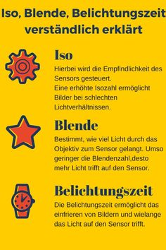 Iso, Blende und Verschlusszeit verständlich erklärt ISO, ouverture et vitesse d'obturation clairement expliqués photographie Photography Degree, Food Photography Tips, Face Photography, Photography For Beginners, Creative Photography, Digital Photography, Online Accounting Courses, Empire Ottoman, Aperture