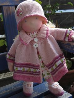 Waldorf Doll in pink; So cute! by Gelis