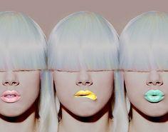 Art Artistic Beautiful Beauty Blonde Blue Colorful Fashion Fluoro Fringe Girl Girls Hair Lime crime cosmetics Lipgloss Lip Lipstick Lipstickk Make up Miss mosh Pastel colours Pastel lips Pastel lipstick Pink Platiunum blond Separate with comma Turqoise Wo Lip Art, Beauty Makeup, Hair Makeup, Hair Beauty, Makeup Art, Media Makeup, Pastell Make-up, Foto Flash, Pastel Lips