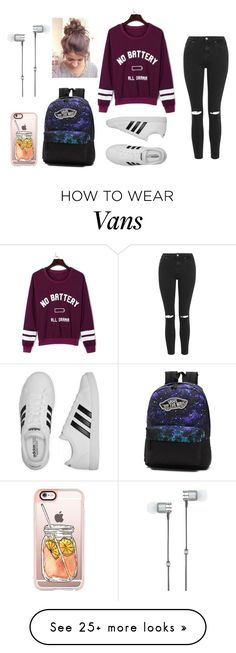 """school"" by harlee2021 on Polyvore featuring WithChic, Topshop, adidas, Vans, Casetify and Master & Dynamic"