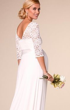 Lucia Maternity Wedding Gown Long Ivory - Maternity Wedding Dresses, Evening Wear and Party Clothes by Tiffany Rose AU