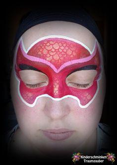 PJ Masks Owlette by Kinderschminken Traumzauber #pjmasks #pj #owlette #facepaintingpjmasks #facepaintingowlette