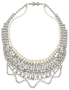 Tom Binns Pearl Certain Ratio Wide Necklace Tom Binns, Jewelry Box, Jewellery, Pearl Necklace, Swarovski, Statement Necklaces, Pearls, Diamond, Beautiful