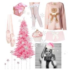 a pink christmas ♡ by fiftiesprincess on polyvore