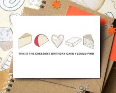 The cheesiest birthday card youll ever find!  This card comes as one of the original cheesy designs, as a birthday card (please note that wedding,