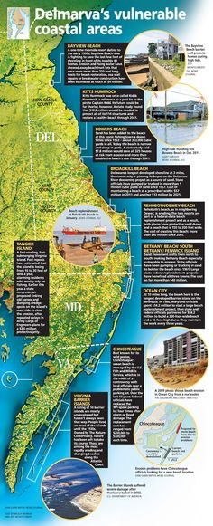 GRAPHIC: Delmarva's vulnerable coastal areas | The News Journal | delawareonline.com