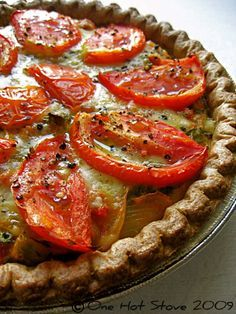 """Julia Child's Provencal Tomato Quiche. One pinner says:  I made this last summer with fresh tomatoes and it was """"out of this world"""" delicious!"""