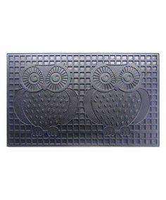Another great find on #zulily! Owls Rubber Doormat #zulilyfinds
