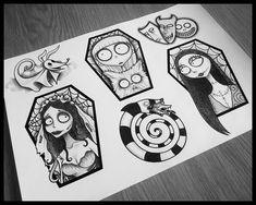 Stay Home. Save Lives : Help Stop Coronavirus Anime Tattoos, Disney Tattoos, Dream Tattoos, Future Tattoos, 1 Tattoo, Tattoo Drawings, Corpse Bride Tattoo, Corpse Bride Art, Desenhos Tim Burton