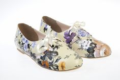 Otto-Floral Flat Shoes