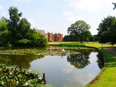 Heslington Hall and the lake at University of York