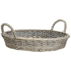 Made from woven willow with an attractive greywash finish and cotton liner, this serving tray exudes rustic countryside charm. £9 from John Lewis.