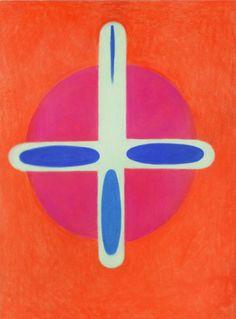 Karel Malich, Světlo / 1990 / pastel, papír / 102'2 × 73'3 cm