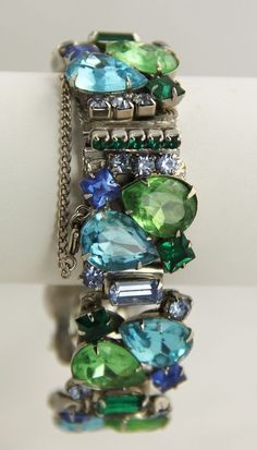 "Vintage Jewelry Alice Caviness Attributed High End Rhinestone Bracelet 7""   eBay"