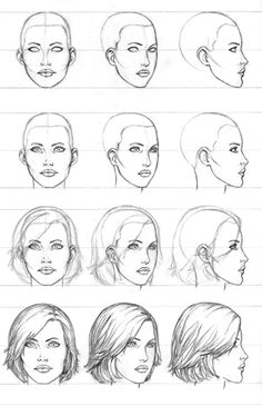 Pencil Art Drawings, Art Drawings Sketches, Cool Drawings, Realistic Drawings, Illustration Sketches, Female Face Drawing, Drawing Faces, Drawing Hair, Drawing Drawing