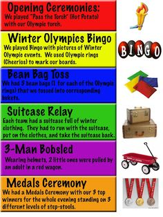 Awesome idea to hold an Olympic Games in the Seniors Home during the summer Olympics! Senior Olympics, Kids Olympics, Winter Olympics 2014, Winter Olympic Games, Winter Games, Summer Olympics, Winter Activities, Winter Sports Games, Office Olympics