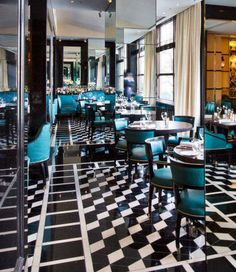 WAN INTERIORS Restaurants, Kaspar's at the Savoy Hotel