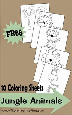 http://www.freehomeschooldeals.com/free-farm-coloring-sheets/ http://www.freehomeschooldeals.com/free-jungle-animals-coloring-shee...