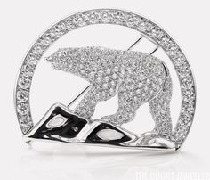 The Polar Bear Brooch. Kate received the brooch from the regional government of the Northwest Territories during the Cambridges' 2011 tour of Canada. The brooch, which was made by Harry Winston, features 4.5 carats of pavé-set diamonds in platinum. In total, the brooch includes 302 diamonds, all of which were mined at the local Diavik Diamond Mine.