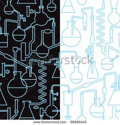 science lab seamless pattern