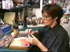 How to Blush a Baked Polymer Clay Sculpture Using Chalk Pastels by Judy Creager --- Sculpting Lesson 6.