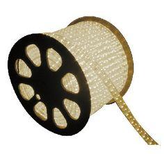 Rollo de Manguera de LED de 25 metros, 127V directo, Para Exteriores de 3 hilos