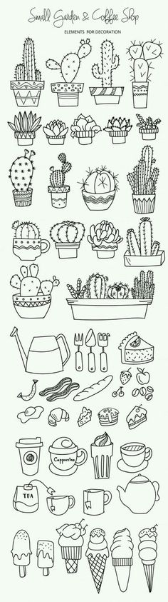 Картинка с тегом «doodle, cactus, and drawing»