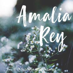 Amalia Rey   @charmingbabynames Baby Girl Names, Boy Names, Baby Boy, Creative Names, Unique Baby Names, Name Signs, Writing Ideas, Babies, Mini