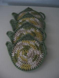 Coaster Pattern / Crochet TEA POT COASTER Pattern. £1.26: