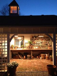 Garage potting shed