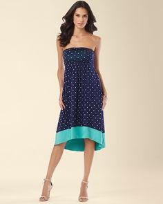 I m loving this polka dot dress! Soma Intimates High Low Bandeau Dress   28824d4a5