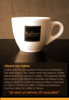 I go to Kahwa Coffee for my morning brew
