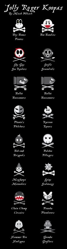 Mario themed pirate flags by Micah Weltsch. Geek pride, baby!