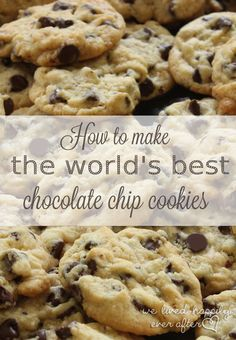 The Best Recipe, Tips & Techniques for the YUMMIEST & Most Beautiful Chocolate Chip Cookies You Will Ever Have!