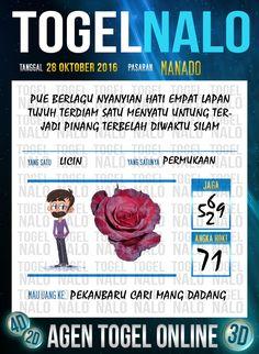 Nomor Kembar Togel Wap Online Live Draw 4D TogelNalo Manado 28 Oktober 2016