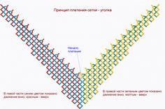 Схема сетки-уголка   biser.info - всё о бисере и бисерном творчестве