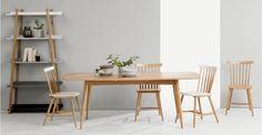 Deauville Extending Dining Table, Oak | made.com