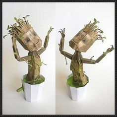 robots templates | The Guardians of the Galaxy - Dancing Groot Free Papercraft Download ...