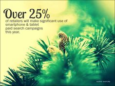 Over 25% of retailers will make significant use of smartphone and tablet paid search campaigns this year.