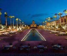 Swim for miles—okay, maybe that's a bit of a stretch—at The Selman, in Marrakesh, Morocco.