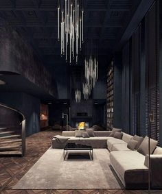 170 Best Cool Dark Living Room images | Dark living rooms, Dark ...