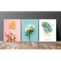 Saf Love Flower Designer Multieffect Uv Textured Panel Painting Set Of 3 12 Inches X 27 Inches Sac12218 Textured Panels Painting Love Flowers