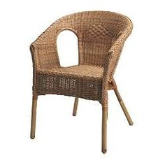 AGEN rattan/bamboo chair from IKEA (two) for the living room. Rattan Armchair, Wicker Chairs, Wicker Furniture, Outdoor Chairs, Dining Chairs, Bamboo Chairs, Porch Chairs, Dining Nook, Furniture Dolly