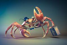 Mr. Crab by Danail Nikov, via Behance