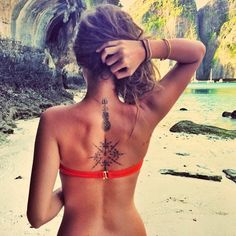 39 Awesome Compass Tattoo Design Ideas