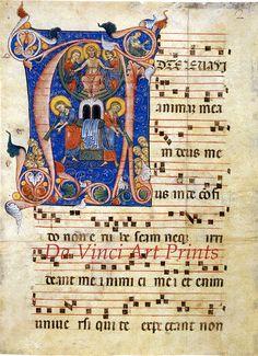 Fine Art Reproduction. Illuminated Manuscripts: The Last Judgement in the…