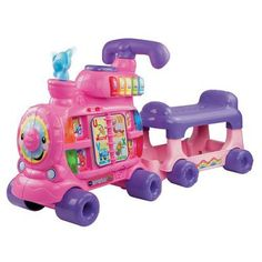 VTech Sit-to-Stand Ultimate Alphabet Train - Vtech Sit-to-stand Alphabet Train - Pink, Dimensions: x x *** You could find even more details by seeing the photo web link. (This is an affiliate link). Toys For Girls, 1 Year Baby Toys, Baby Play, Bb Reborn, Toys For 1 Year Old, Gift Ideas For 1 Year Old Girl, Sit To Stand, Thing 1, Shopping
