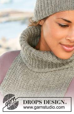 Knitting Patterns Free, Free Knitting, Free Pattern, Cowl Scarf, Knit Cowl, Drops Design, Crochet Scarves, Knit Crochet, Crochet Neck Warmer