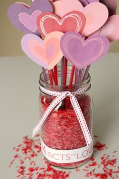 14 Acts of Love to count down to Valentines Day... with free hearts and acts of love printables.