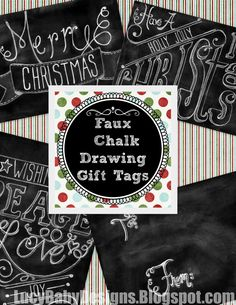 Lucy Baby Designs: Faux Chalk Board Christmas Gift Tags {FREE PRINTABLE!}